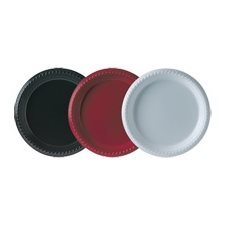 "ASSIETTE RONDE POLY 9"" 25 / P ROUGE"